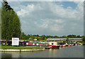 SP5972 : Crick Marina southern entrance, Northamptonshire by Roger  Kidd