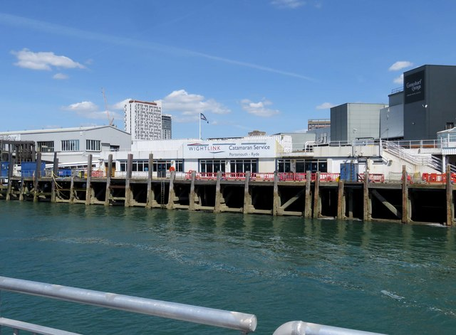 The Wightlink dock in Portsmouth
