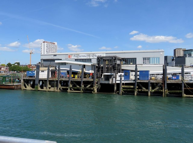Portsmouth Harbour Station and dock