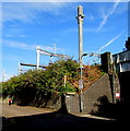 ST3188 : Electrification preparation on the eastern approach to Newport railway station by Jaggery
