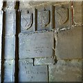 SK3616 : Ashby Castle – graffiti, Hastings tower – 2 by Alan Murray-Rust