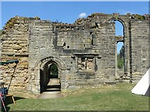 SK3616 : Ashby Castle – the great hall passage by Alan Murray-Rust