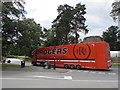 SP2772 : Orange Rogers articulated lorry in Kenilworth by Jaggery