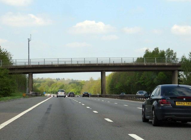 The M40 runs under Finwood Road