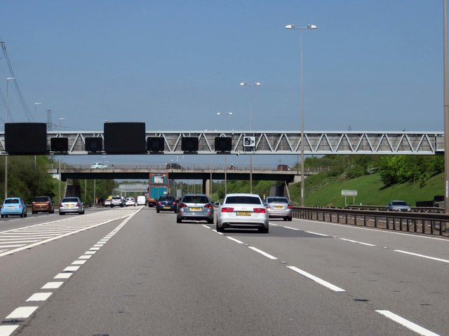 The M42 heading to the M6 Toll