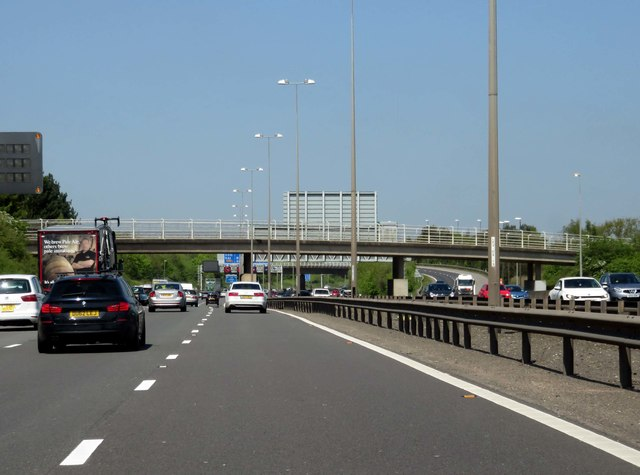 The M6 Toll runs under a farm track