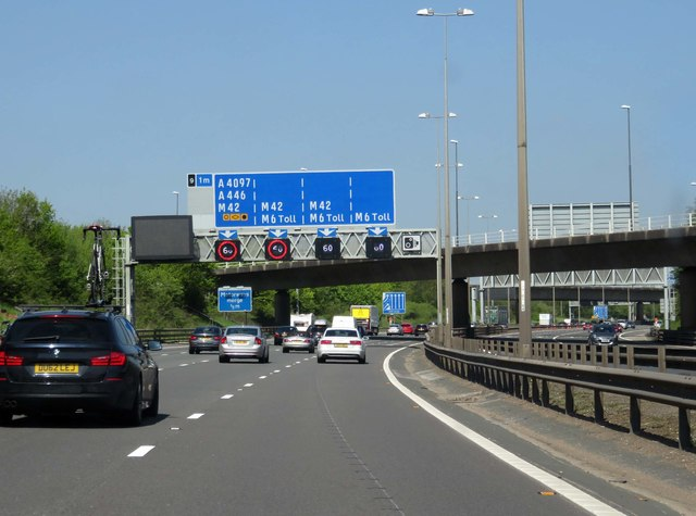 The M6 Toll heading north