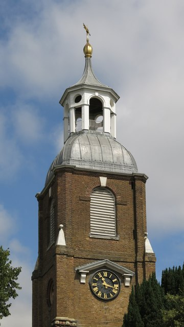 The Church of St. Mary the Virgin, Church Street / Thames Street - tower