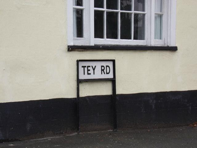 Tey Road sign