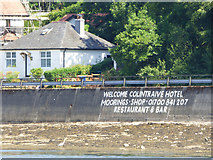 NS0374 : Colintraive Hotel advert by Thomas Nugent