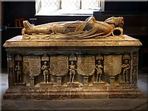 SK3616 : Church of St Helen, Ashby-de-la-Zouch – Hastings tomb – 5 by Alan Murray-Rust