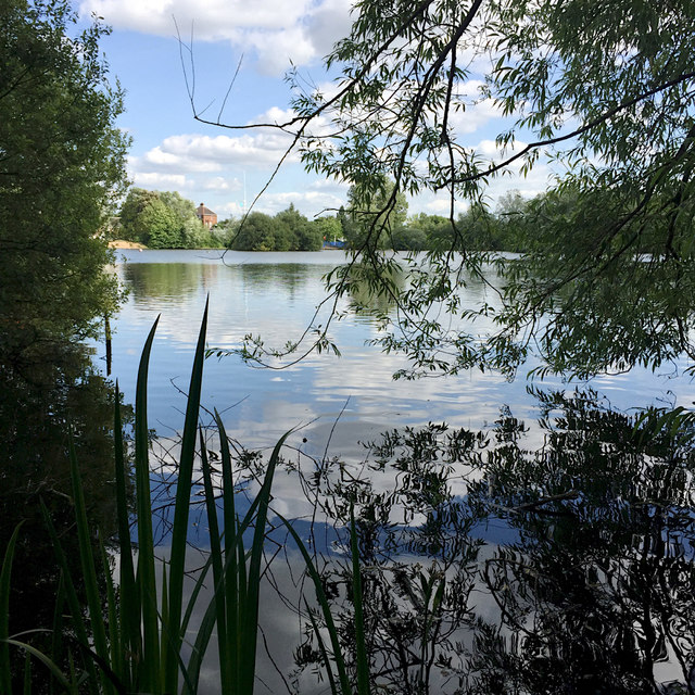 Lake, Norman Chamberlain Recreation Ground, Shard End, east Birmingham
