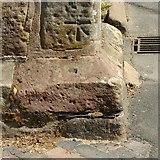 SK3616 : Bench mark and bolt, St Helen's Church, Ashby-de-la-Zouch by Alan Murray-Rust