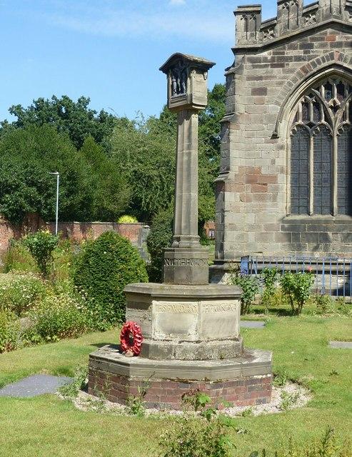 World War I memorial, St Helen's churchyard, Ashby-de-la-Zouch