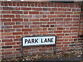 TL8528 : Park Lane sign by Adrian Cable