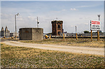 SJ3290 : WWII Cheshire: defences of the Wirral, Alfred Dock pillbox, Wallasey (1) by Mike Searle