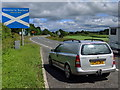 NY3873 : Welcome to Scotland by Rob Purvis