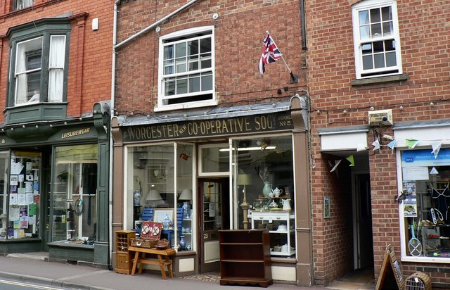 Historic shop sign in Upton upon Severn