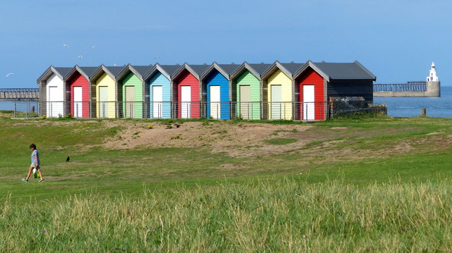 Beach huts at Blyth Links