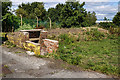 SJ3778 : WWII Cheshire: defences of the Wirral, RAF Hooton Park air raid shelter (1) by Mike Searle