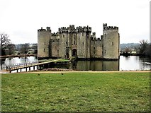 TQ7825 : Bodiam Castle and moat by Patrick Roper