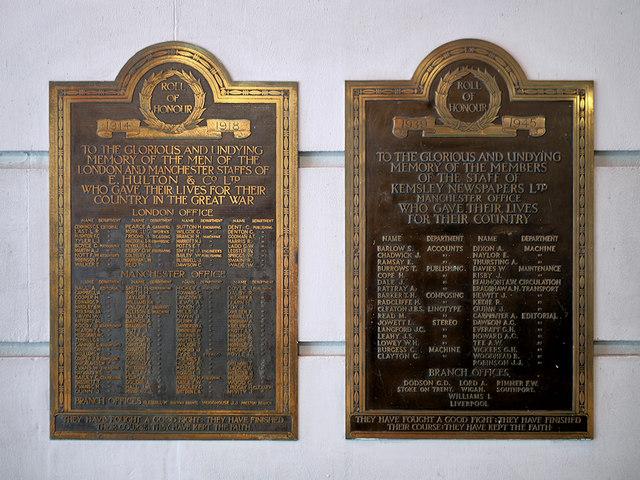 War Memorials at The Printworks