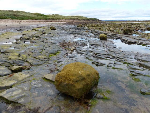 Rocky shoreline at Amble