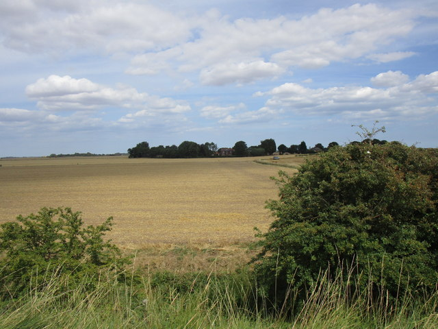 Stubble field and South Farm
