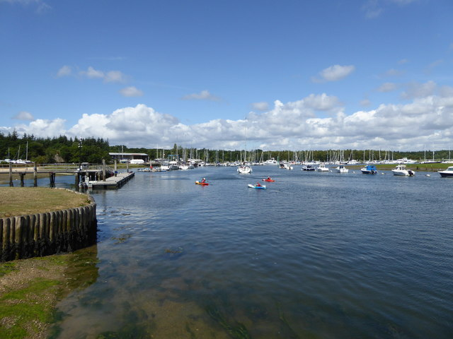 Scene on the Beaulieu River at Buckler's Hard, Hampshire