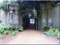 TQ2887 : The Egyptian Avenue, Highgate West Cemetery by Marathon