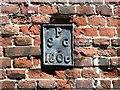 TG2208 : 52/54 Bethel Street - parish boundary marker by Evelyn Simak