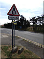 TQ7794 : Roadsign on Hawk Hill by Adrian Cable