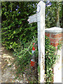 TQ7794 : Footpath signpost off Maltings Road by Adrian Cable
