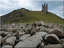 NU2521 : Lilburn Tower at Dunstanburgh Castle by Mat Fascione