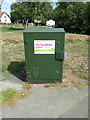 TQ7794 : Fibre Cabinet on Maltings Road by Adrian Cable