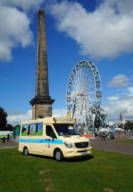 Ice cream van, Glasgow Green