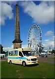 NS5964 : Ice cream van, Glasgow Green by Richard Sutcliffe