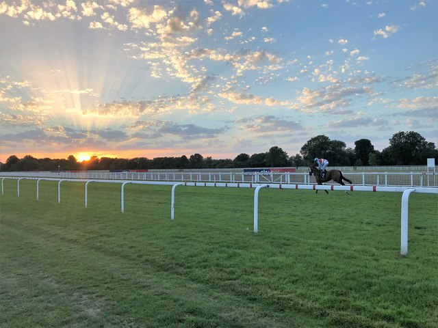 Sunset at Windsor Racecourse