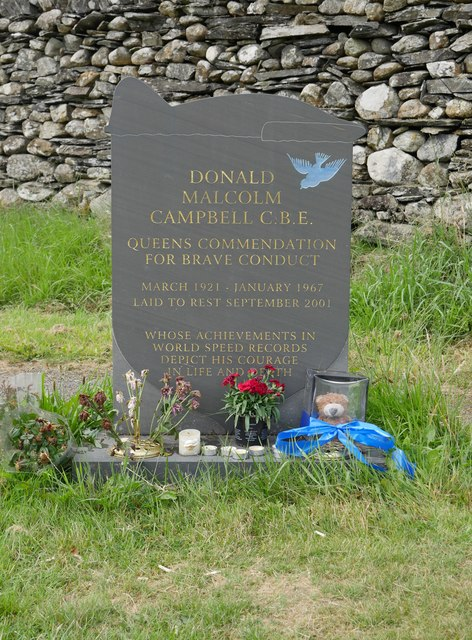 The grave of Donald Campbell