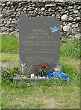 SD3097 : The grave of Donald Campbell by James T M Towill