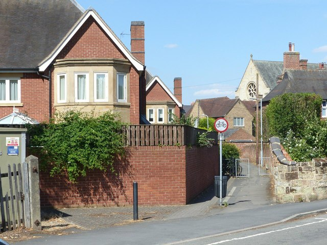 Footpath off Wilfred Place, Ashby-de-la-Zouch