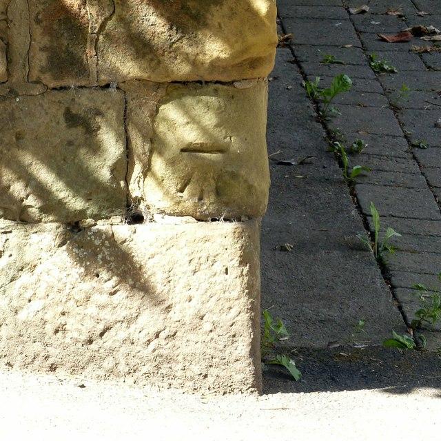 Bench mark, Kilwardby Street, Ashby-de-la-Zouch