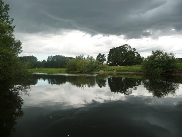Dark clouds over the River Ure, just west of Newby Hall