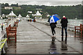 SH5873 : A rainy day at Bangor Pier by Oliver Mills