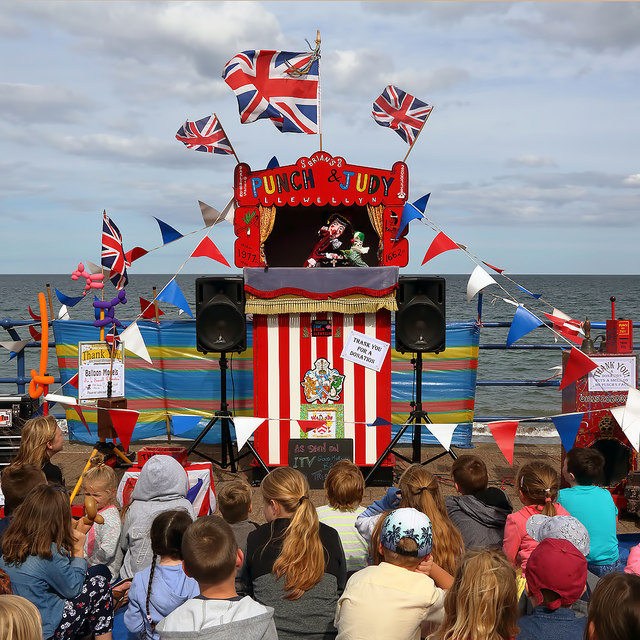 A Punch and Judy show at Spittal Seaside Festival