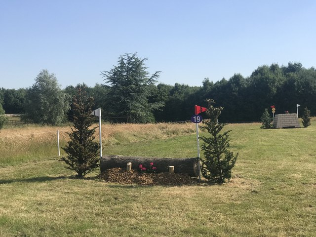 Cross-country fences at Eland Lodge Horse Trials