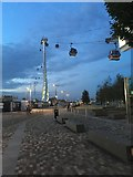 TQ3979 : Cable Cars at Greenwich by Philip Jeffrey