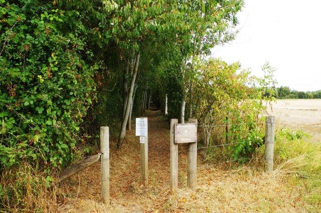 Entrance to Shillbrook Wood near Bampton, Oxon