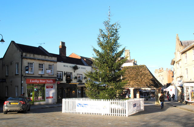 Christmas Tree Market Place Ray Bird Geograph