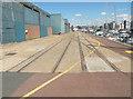 TM1643 : Old railway tracks at Ipswich Marina by Keith Edkins